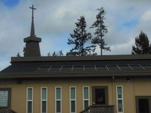 Edmonds Lutheran Church solar panels.