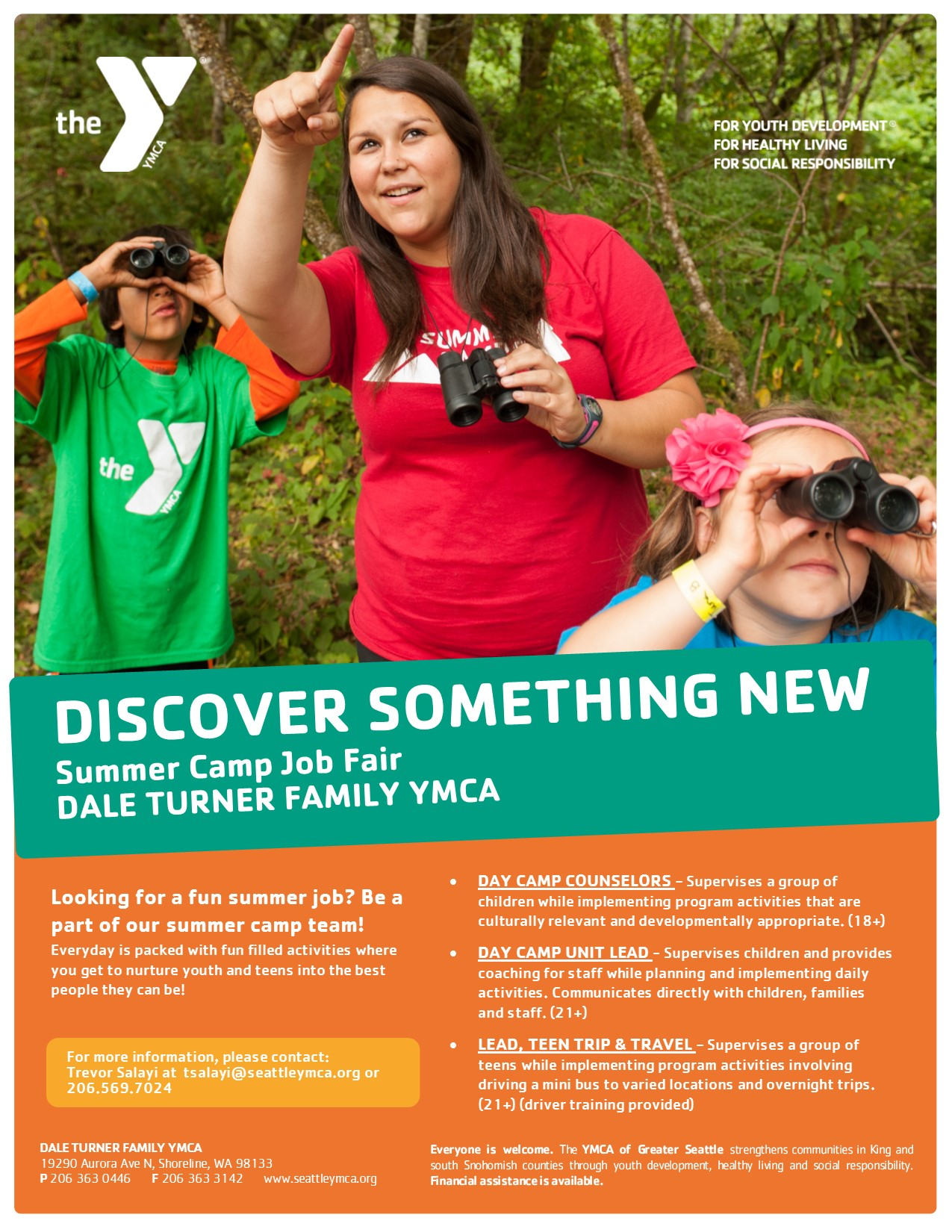 Dale Turner Family YMCA hiring for the summer - My Edmonds News
