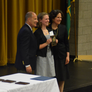 EWHS senior Mikayla Monroe won the Creativity Award for her work in oceanography.