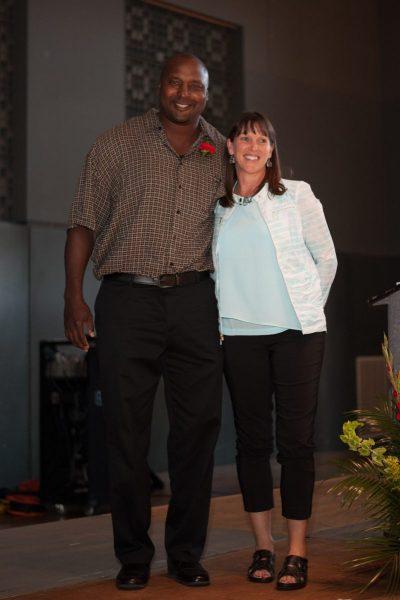 Everett Edwards with Julie Stroncek