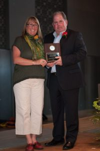 Kevin O'Neill and Meadowdale Athletic Director Beth Marriott