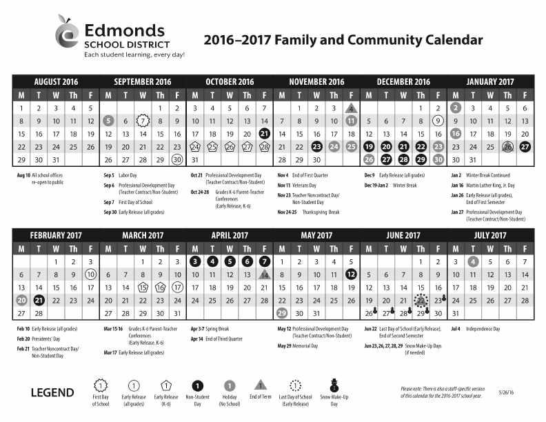 2016-17 Calendar - #5113491