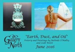 """Gallery North begins its exhibition titled, Earth, Dust and Oil"""" this weekend."""
