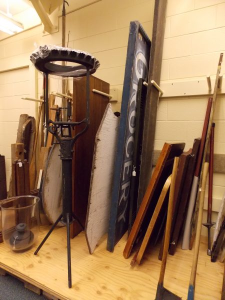 An example of current Edmonds Museum storage that will be improved through the grant funding.