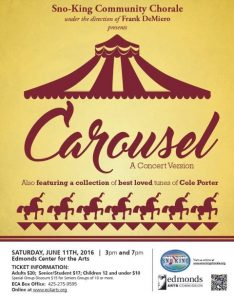 Son-King Community Choral has a wonderful family event in mind for all to enjoy -- It's a Carousel!