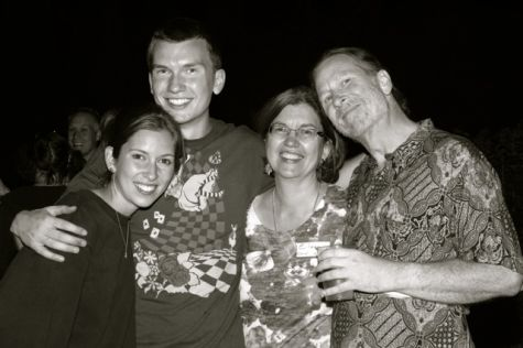 Chris Herman, far right, with children Michelle and Louis, and wife Eileen.