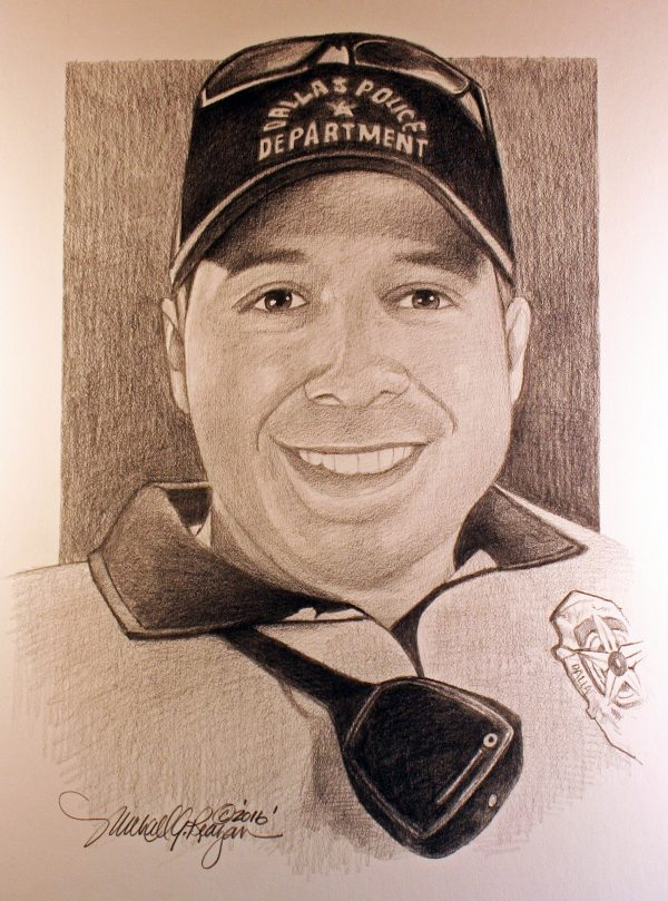 Edmonds artist sketches portraits of fallen Dallas police officers - My Edmonds News