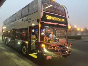 Sound Transit double decker bus.