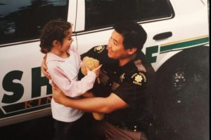 Sgt. Woo is known for his countless hours of volunteer work with local youth. (Photo courtesy GoFundMe page)
