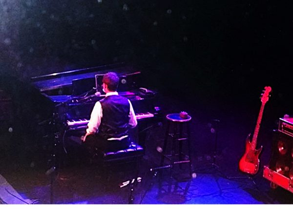 Nick Baker tickling the ivories at The Triple Door last week where he opened the show for A.J. Croce.