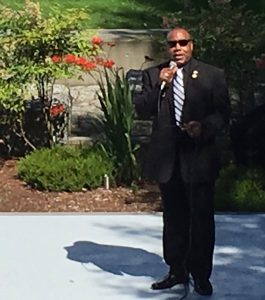 Among the many officials speaking at the NAACP sponsored vigil was Ray Miller, chair of the 38th Legislative Democrats.