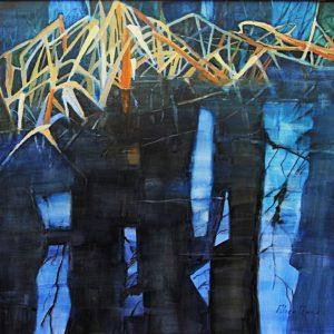 """""""Winter Pond"""" by Alice Owen. Photo courtesy of Edmonds Arts Festival Foundation."""