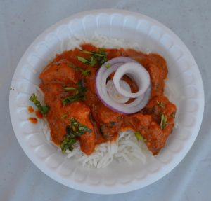 Chaat n' Roll's Marinated Chicken was voted best main dish.