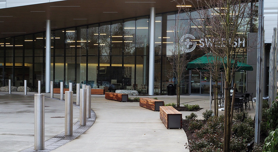 The entrance to the ambulatory care center.