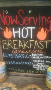 Now serving hot breakfast