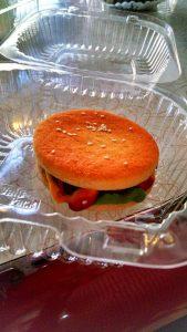A burger cookie.