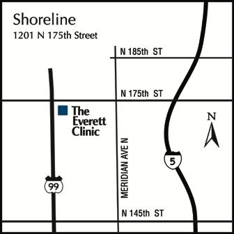 the everett clinic at shoreline 1201 n 175th street shoreline wa 98133 206 401 3200 everettcliniccomshoreline