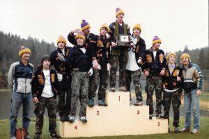 The 1983 EHS boys cross country team
