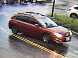 The carjacked vehicle.