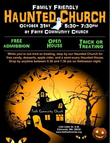 haunted church flyer