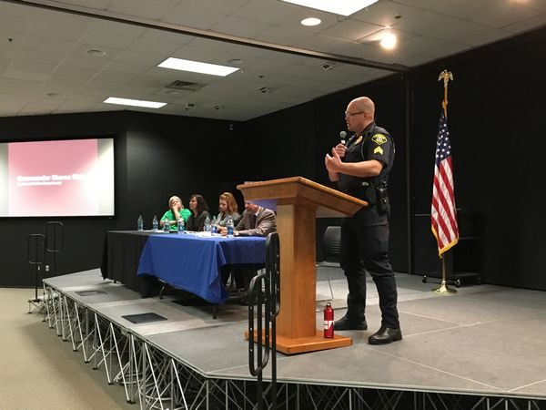 Sgt. Cole Langdon of the Lynnwood Police Department explained how the innovative Law Enforcement Assisted Diversion program is helping addicts get the services they need while keeping them out of the criminal justice system.