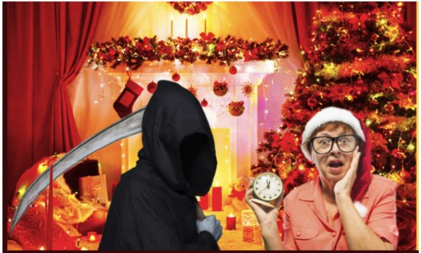 Only The Phoenix Theatre comedy troupe could pair Death-and-Christmas! A must-see from this Firdale Village troupe of comedy artists.