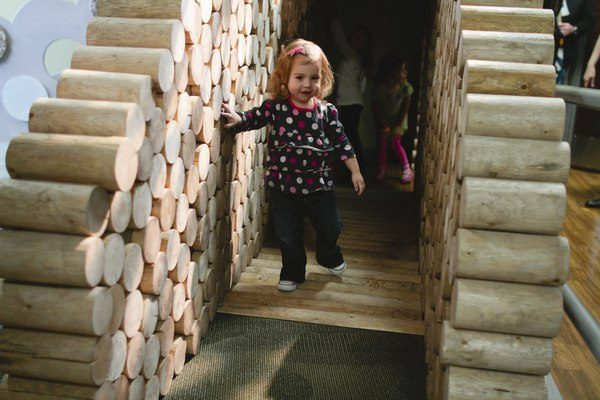 Woods playscape at the Children's Museum of Tacoma.