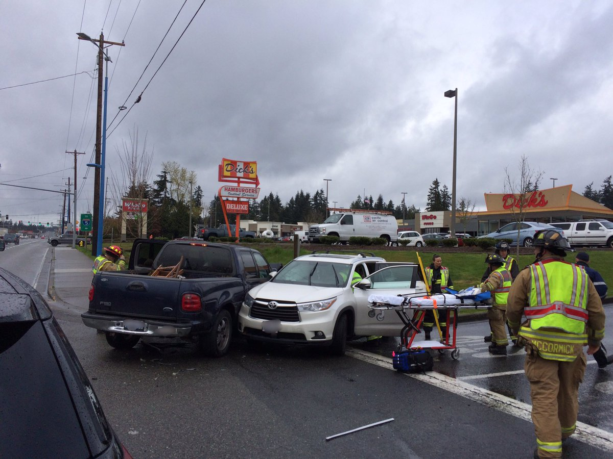 Four taken for evaluation after two-car crash on Highway 99 - My ...