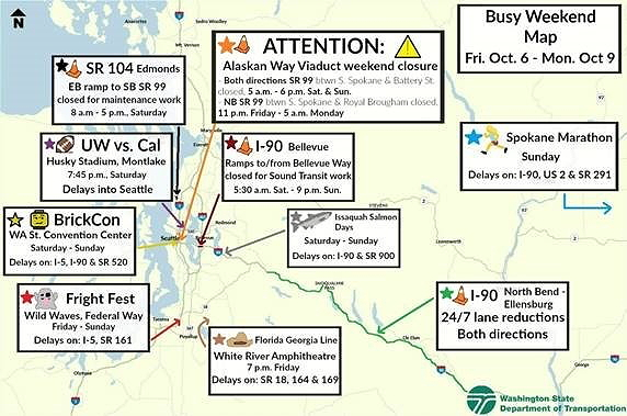 Traffic Map In My Area.Your Weekend Traffic Map Courtesy Washington State Department Of