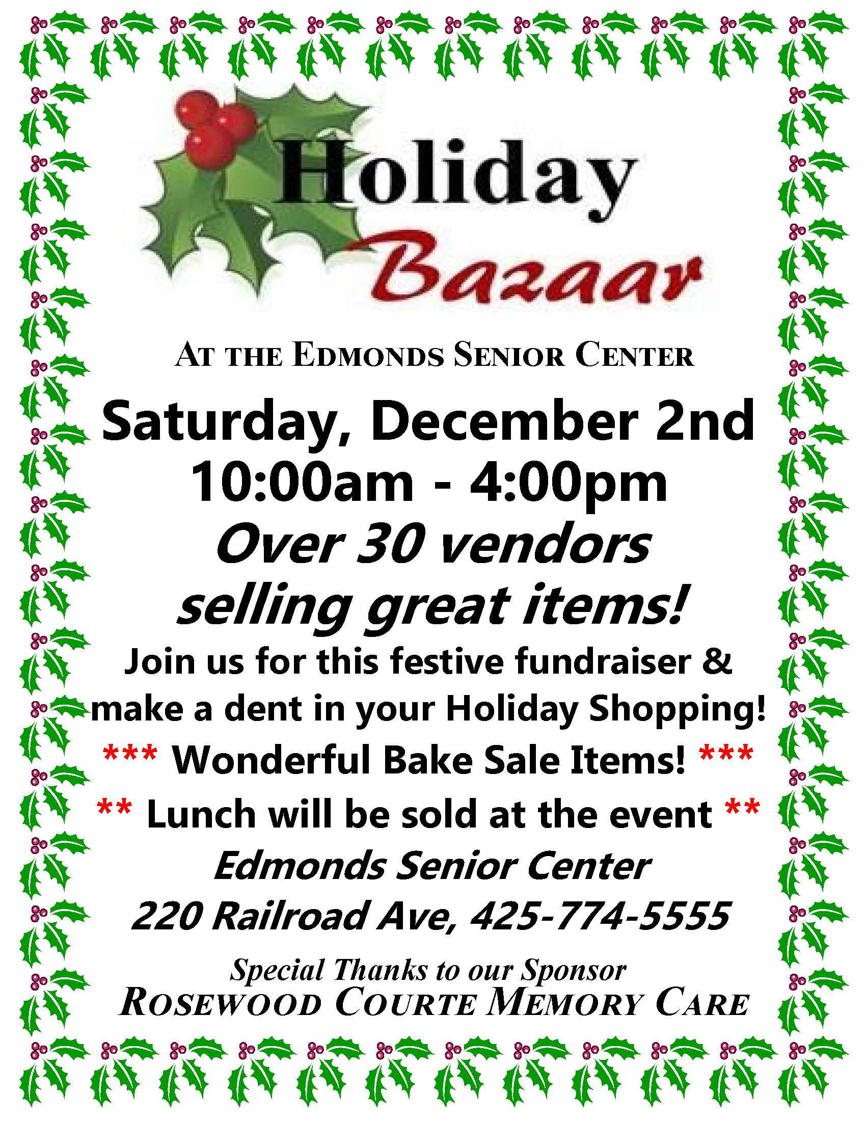2017 holiday bazaar flyer