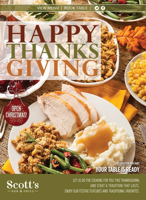Thanksgiving Dinner Restaurants Near Coraopolis Pa