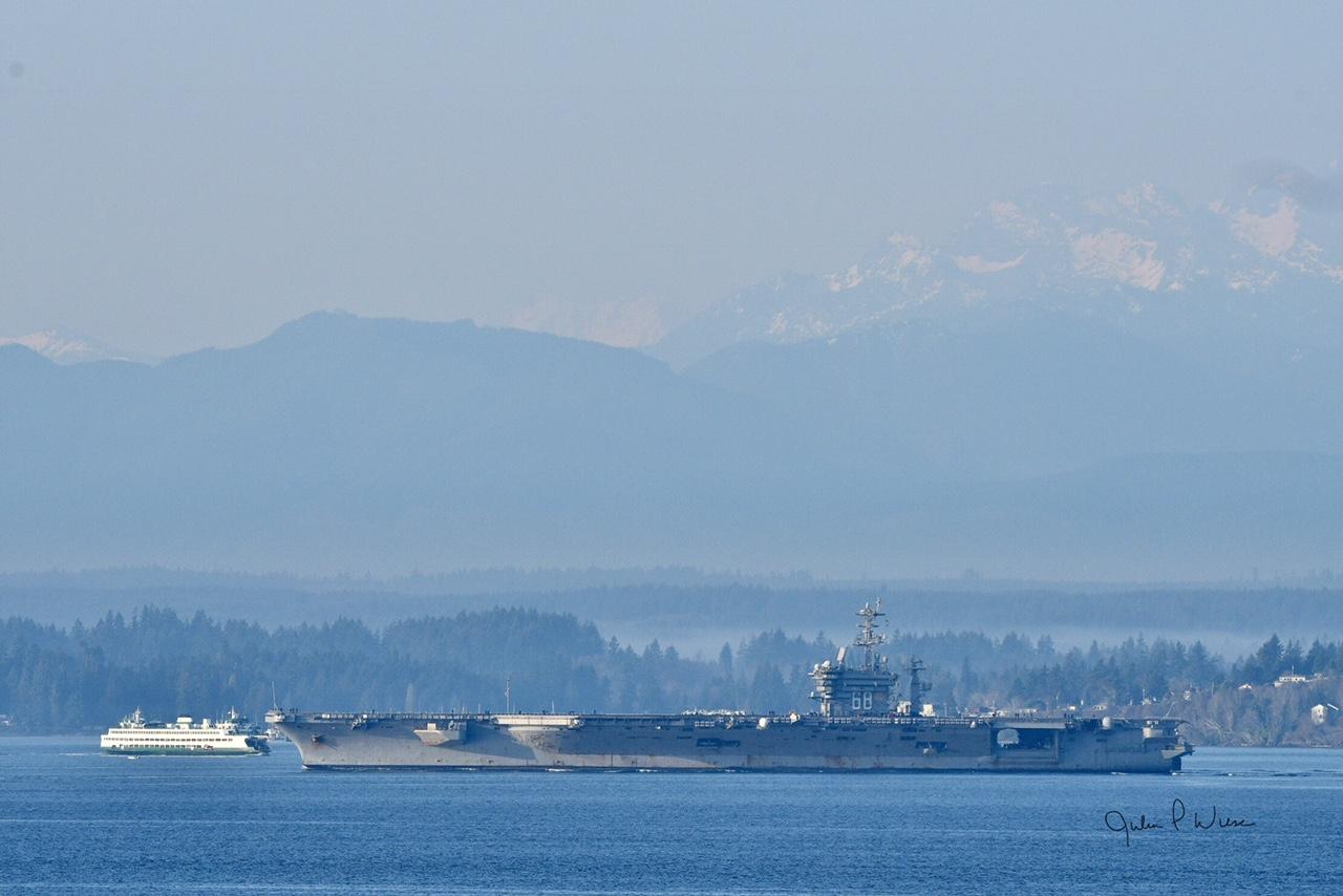 Scene in Edmonds: USS Nimitz heads home - My Edmonds News