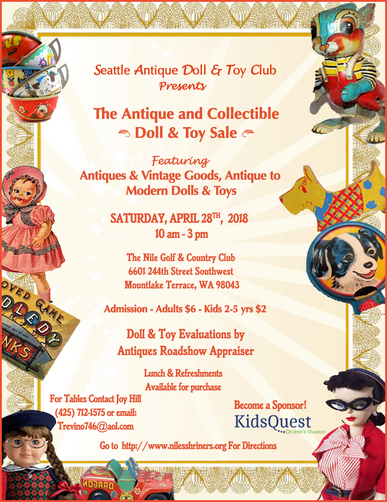 The Seattle Antique and Collectible Dolls, Toys & Antique Sale - My Edmonds  News