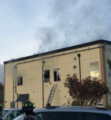 Scene in Edmonds: No injuries reported in commercial fire on Highway