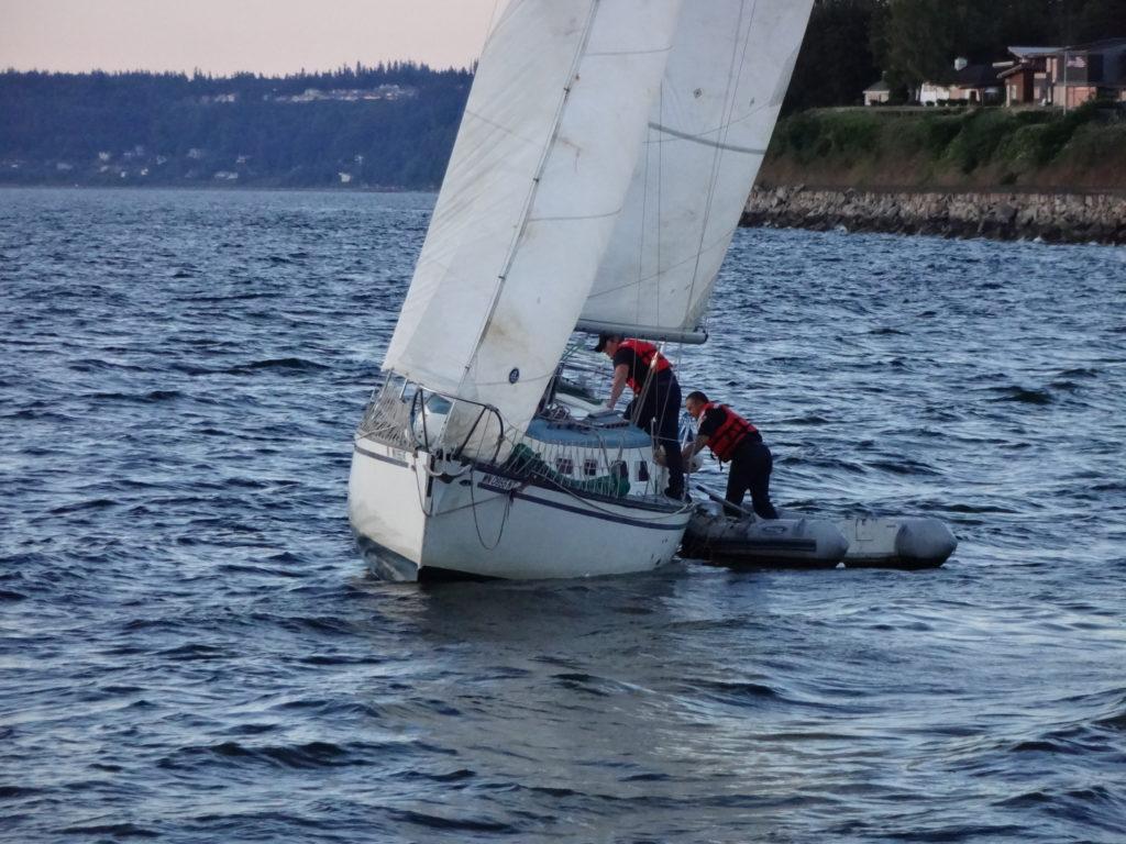 Scene in Edmonds: Drifting sailboat - My Edmonds News
