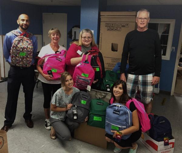 Backpack volunteers YWCA 2018