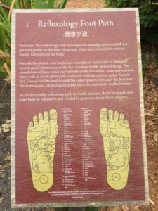 Bastyr's foot reflexology path.