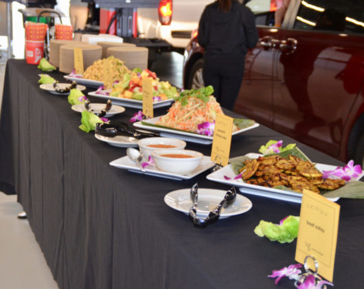 Guests were treated to lunch catered by Wild Ginger restaurant