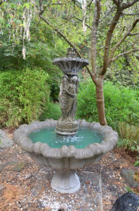 Fountain outside d'Elaine Johnson's studio
