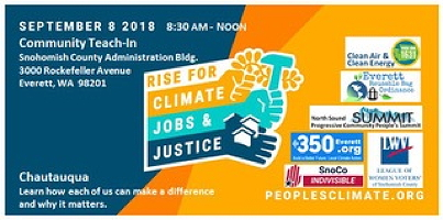 Snohomish County climate, jobs and justice event in Everett
