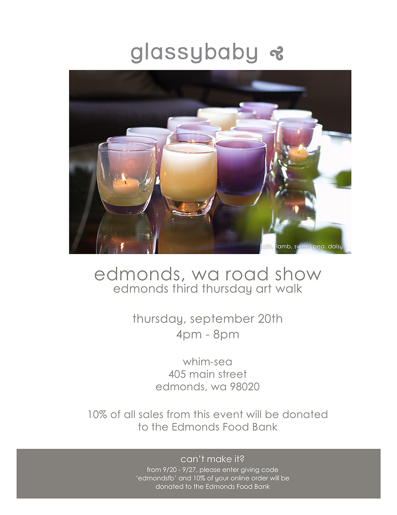 Whimsea, Edmonds Windermere to host glassybaby benefit for