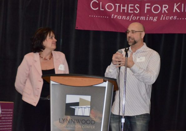Volunteers Lisa Flynn and Ken Powers received the Sherrie Ennis founders award.