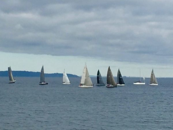 From photographer Lee Lageschulte, the Foul Weather Bluff sailboat race from Edmonds to Port Ludlow Saturday.
