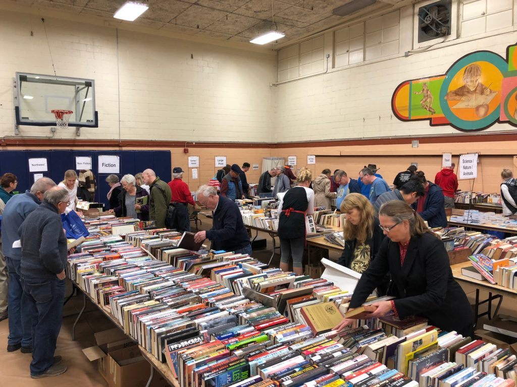 Book lovers gather for bargains at the 37th annual sale.
