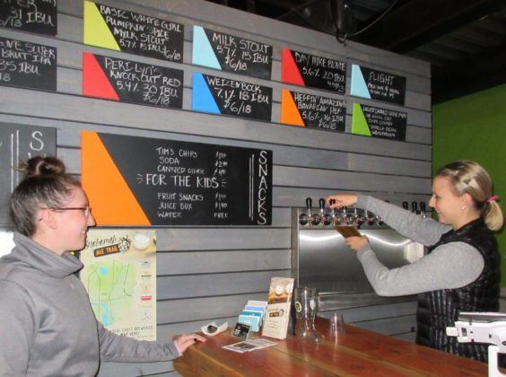Lost Canoe Brewing Co.-owner-manager Emily Langkow, left, and Adrienne Langkow, right