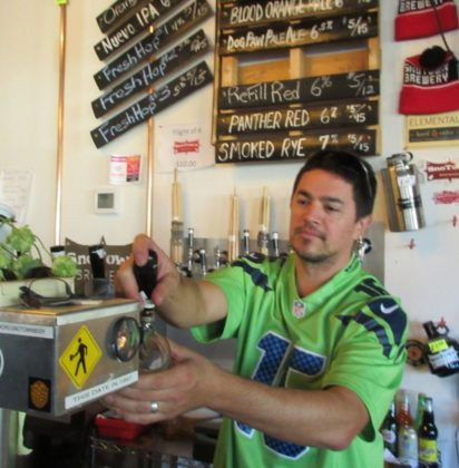 SnoTown Brewery-owner Frank Sandoval in taproom