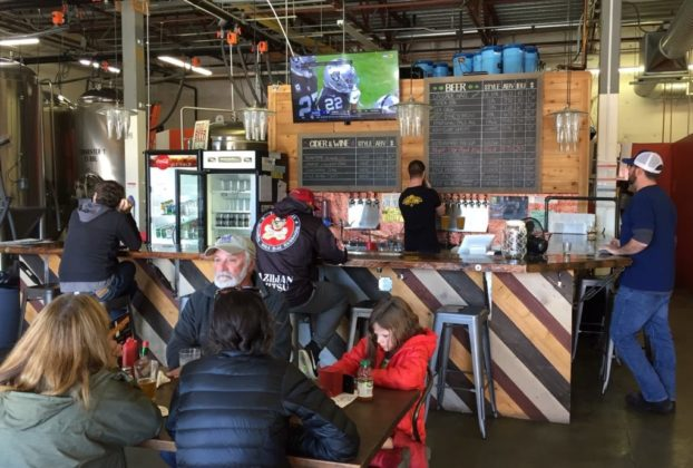 The Sound to Summit Brewing taproom.