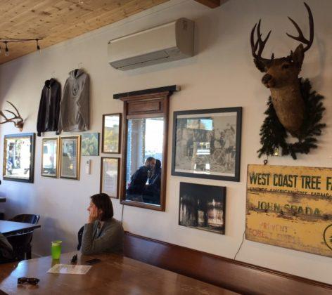 Spada Farmhouse-taproom with signature deer head on wall