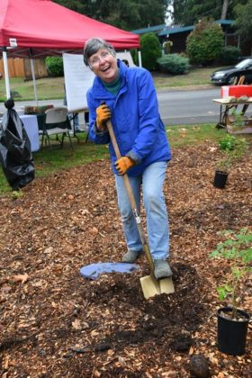 Volunteer Gail Lovell is having a great time