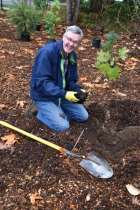 Rev. Phil Assink of Faith Community Church was on hand to grab a shovel and get his hands dirty.
